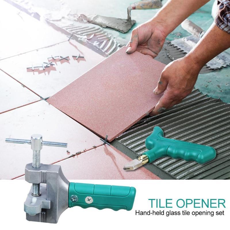 Cast Aluminum Breaker Hand Grip Tile Cutter Divider Glass Cutter Opener Breaker Handheld Glass Tile Quick Opening Set
