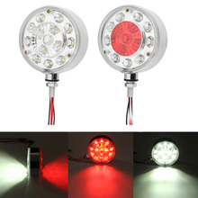 1Pair 24V Truck Trailer Tractor Double Face LED Side Marker Lights Stop Turn Signal Warning Lamp костюм алтекс кб 92 50 индиго синий красный 50 размер