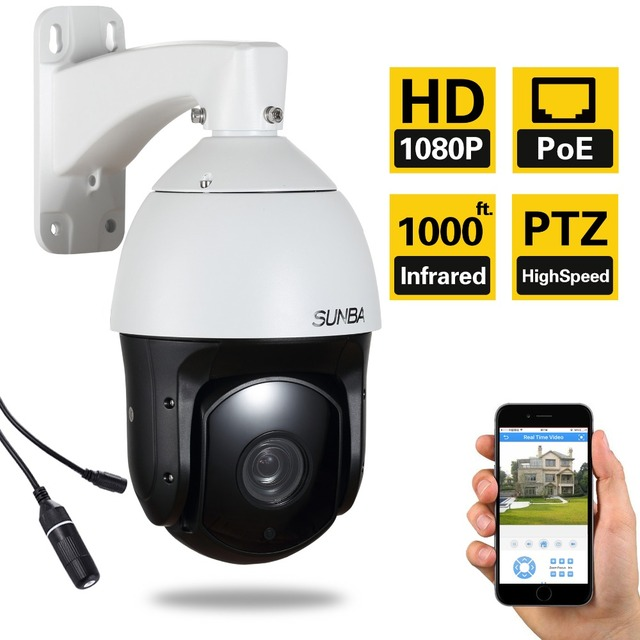601 PoE (Audio) 2MP1080P 20X Laser IR-Cut Night Vision Outdoor Waterpoorf High Speed IP Security PTZ Dome Camera ONVIF