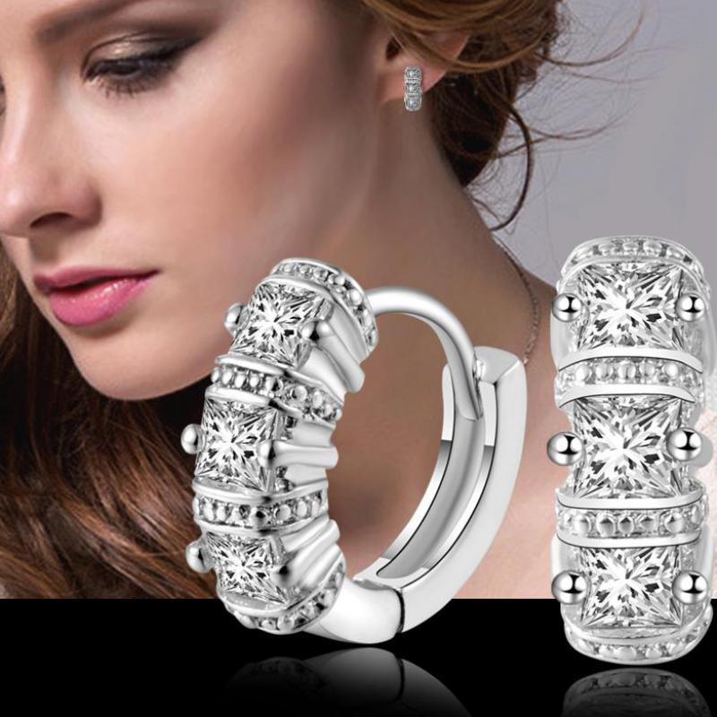 Sterling-silver-jewelry pendientes mujer earrings 925 brincos plata earing stud orecchini oorbellen  women jewelry crystal 12