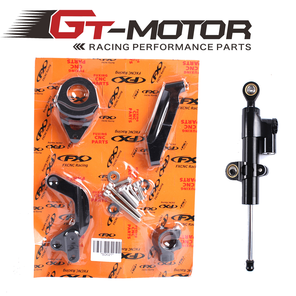 GT мотор - мотоцикл полный набор ЧПУ рулевой демпфер Stabilizerlinear Линейный Стабилизатор Кронштейн комплект для Suzuki GSXR 1000 2009-2015