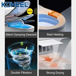 Image 2 - KOHEEL bathroom smart toilet seat cover electronic bidet clean dry seat heating wc gold intelligent led light toilet seat