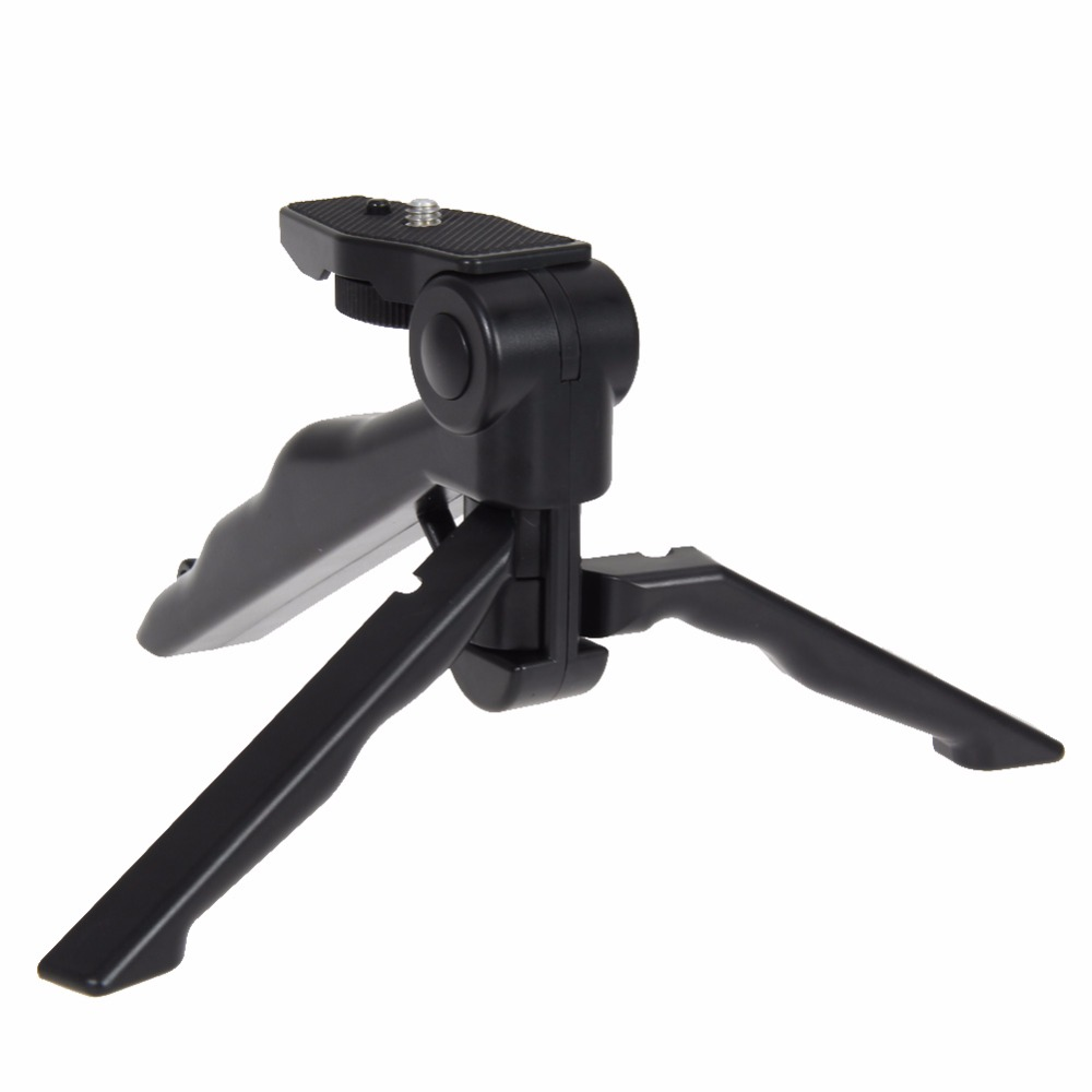 Universal Mini Folding Tripod 75 Rotation Desktop Handle Stabilizer For GoPro Hero Mobile Phone Camera With