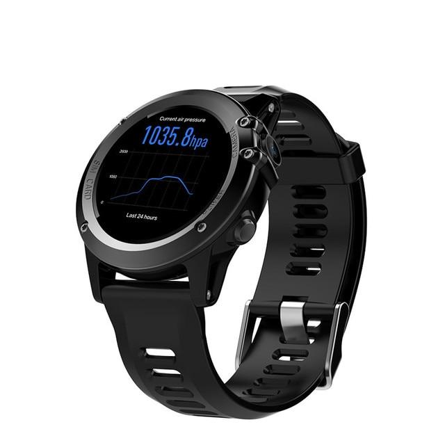 "H1 שעון חכם אנדרואיד 4.4 עמיד למים 1.39 ""MTK6572 BT 4.0 3G Wifi GPS SIM עבור iPhone Smartwatch גברים מכשירי לביש"