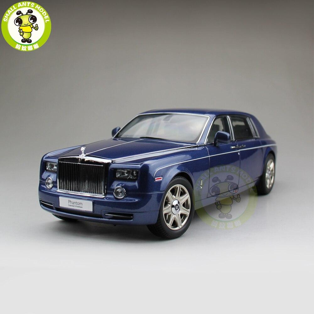 1/18 KYOSHO Rolls Royce Phantom Empattement Allongé Moulé Sous Pression Modèle De Voiture Cadeau Collection Bleu