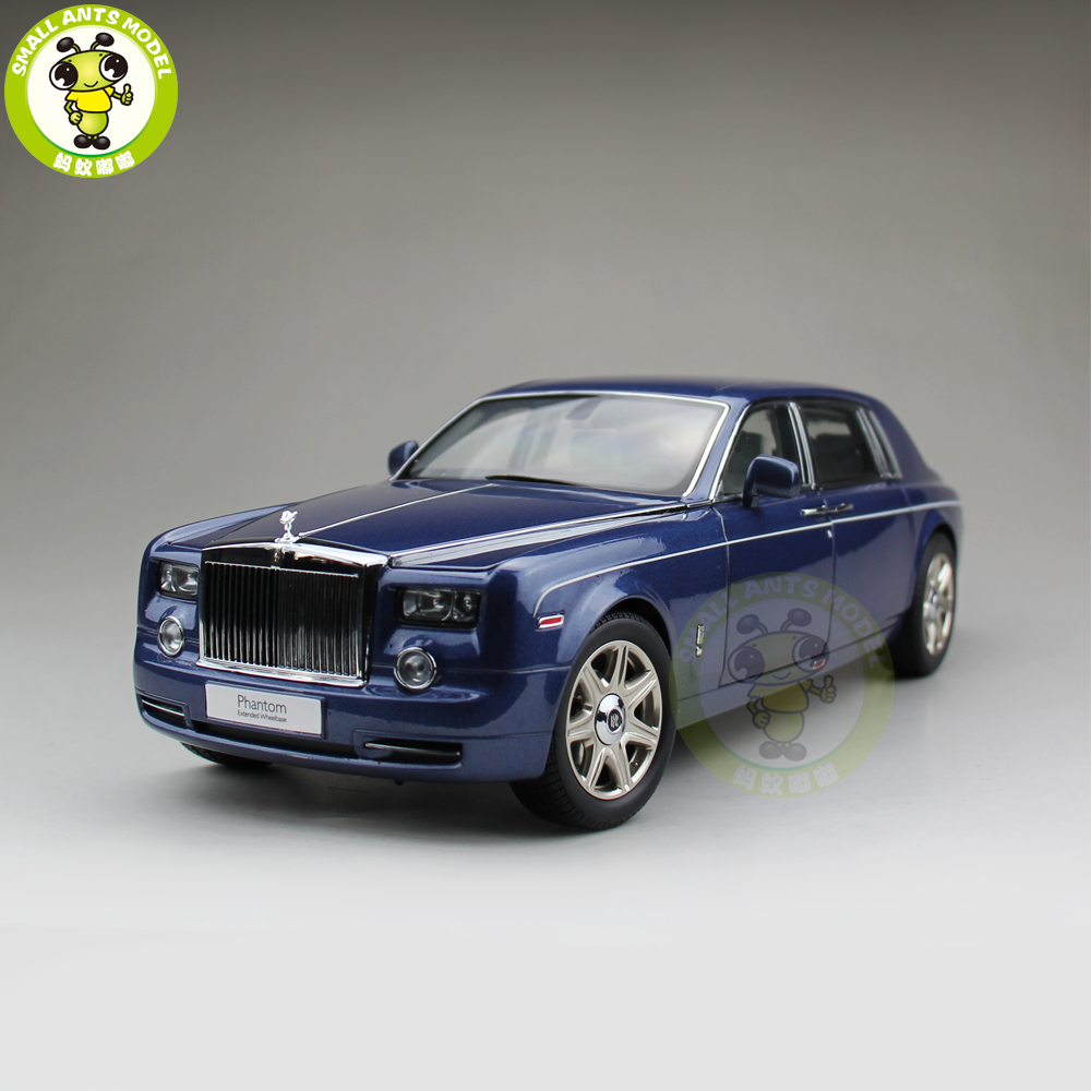1/18 KYOSHO Rolls Royce Phantom Extended Wheelbase Diecast Model Car Gift Collection Blue ahwvse hi3516c imx322 1080p 25fps 720p 960p hd poe ip camera module board diy camera with lan cable onvif p2p ircut