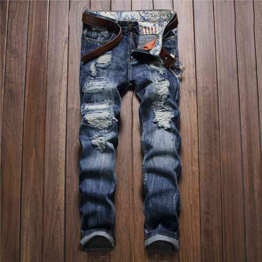 #2721 Pantalon homme Jogger jeans Famous brand Mens skinny jeans Slim Ripped jeans men Biker denim High quality brand Destroyed 2017 fashion patch jeans men slim straight denim jeans ripped trousers new famous brand biker jeans logo mens zipper jeans 604