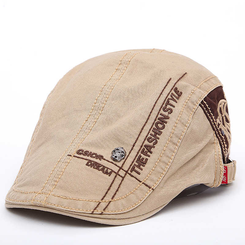 2017 New Summer outdoor Sports Cotton Berets Caps For Men Casual Peaked Caps  letter embroidery Berets 4a1454757714