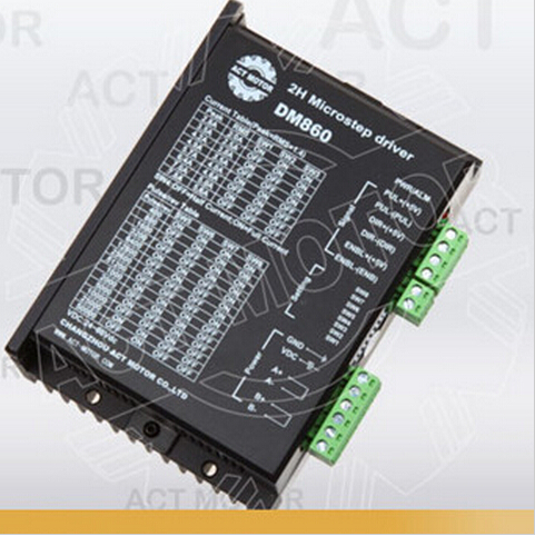 цена на Top Quality! ACT Stepper Motor Driver DM860 80V 7.8A 256Microsteps for Nema34 Stepper Motor CNC Router