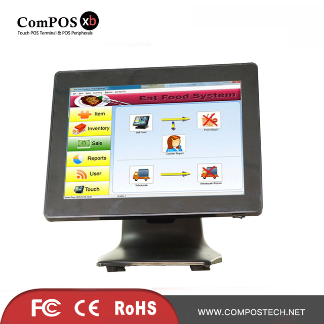 15 inch pos all in one pc for restaurant retail cashier pos1518-in ...