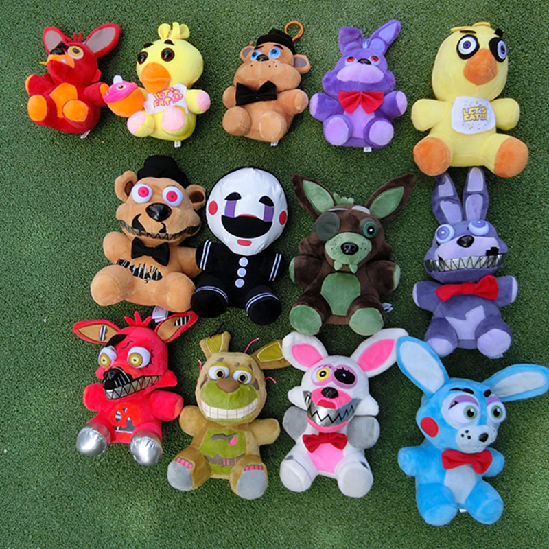 Five Nights At Freddy's FNAF Plush Doll Freddy Bear Foxy Chica Bonnie Stuffed Plush Toys Kid Children Dolls Kids Gift 15-23cm