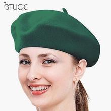 c1cf3e23dcf88 BTLIGE Painter Cap New Fashion Women Classic Wool Blend Warm French Fluffy  Beanie Beret Hat Cap