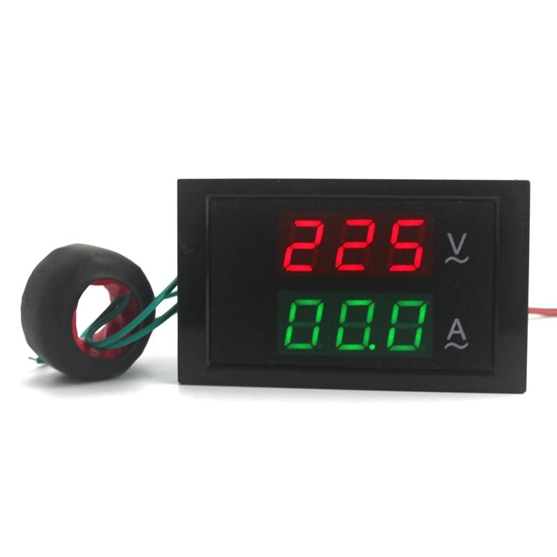 Ac Current Meter : Ac v a led digital voltmeter ammeter