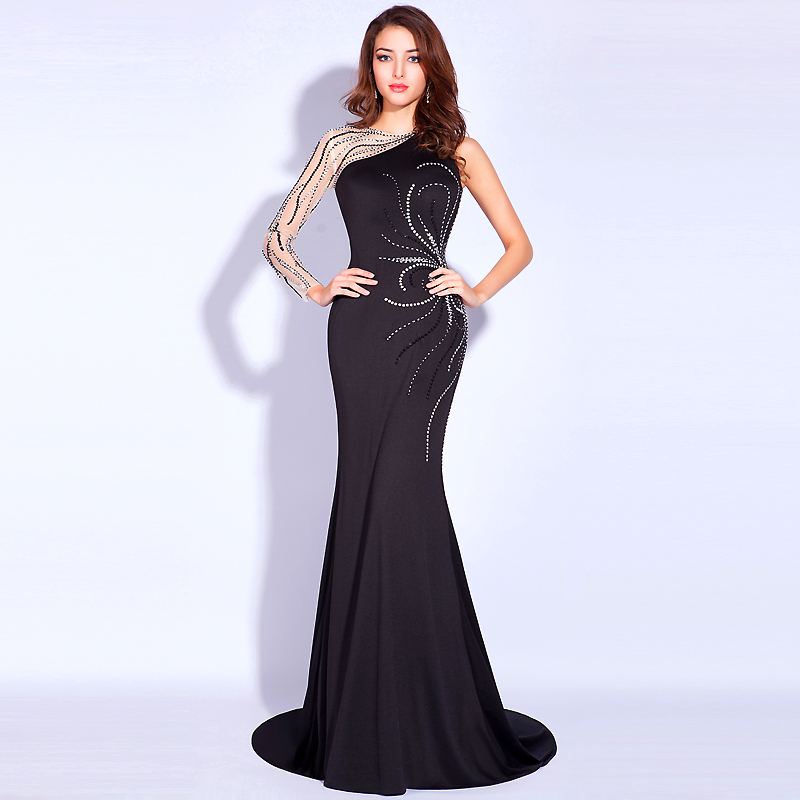 Online Buy Wholesale black formal evening gowns from China black ...