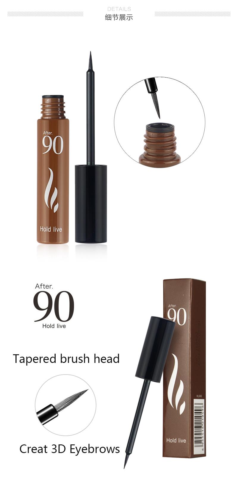 Hold Live Eyebrow Tint Peel Off Eyebrow Enhancer Tattoo Gel 3 Color Dye Cream Waterproof 72H Long Lasting Natural Eyebrow Makeup 8