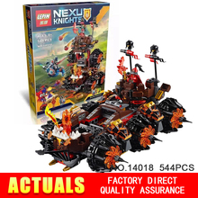 2016 NEW lepin 544pcs 14018 nexue Knights General Magmar's Siege Machine of Doom Building Blocks toy brinquedos legeod 70321