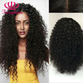 Top sale Afro kinky curly heat resistant lace wigs loose curly snythetic lace front wig fiber wigs for black women free shipping
