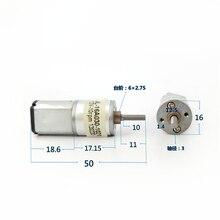 DC 3 в 5 в 6 в 9 в 12 В 10 об/мин микро мини 16 мм полностью Металлическая шестерня редуктора Мотор с резьбой вал медленная скорость DIY автомобиль робот