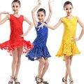 Muchachas de baile Latino Salsa Dancing Disfraces vestido de Los Niños sin mangas de Fiesta de Salón de baile de Rendimiento desgaste de la Danza vestido de baile latino