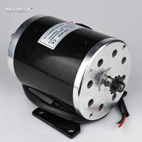 UNITEMOTOR MY1020 24VDC 500W High Speed DC Brushed Motor Electric Scooter Motor Mid Wheel Motors With Foot Bicycle Ebike Motor