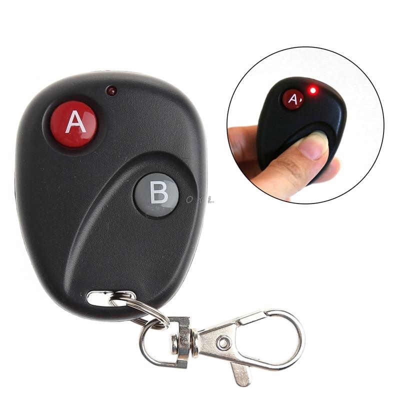A&B Key DC12V Gate RF Wireless Remote Control Garage Door Transmitter 315/433MHz