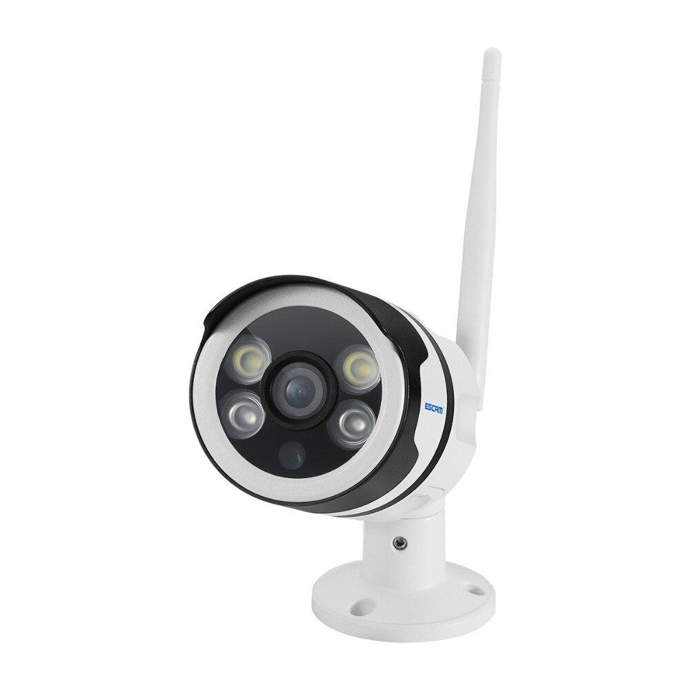 ESCAM QF508 caméra IP HD 1080 P 2MP étanche extérieure couleur vision nocturne caméra de sécurité caméra Bulllet infrarouge P6SPro - 6