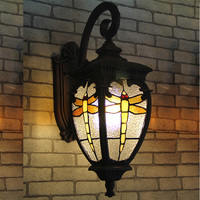European Style Villa Gate Waterproof Outdoor Lamp Outdoor Courtyard Wall Lamp Dragonfly Iron Wall Lamp Outdoor Lamp Wall Lights