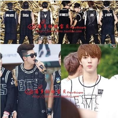 Kpop BTS Bangtan children baseball cap sleeveless dress Youth Club BTS bulletproof vest vest k-pop tank tops T shirt men shirt