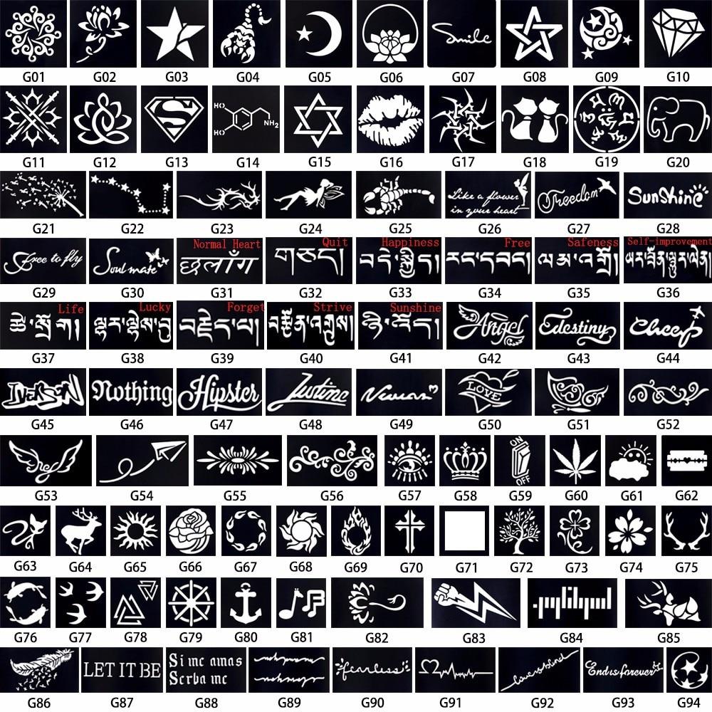 Femmes Corps Art Henne Tatouage Pochoir Mot Auto Amelioration Signification Arabe Lettre Inspire Mots Citations Modele De Tatouage Aliexpress