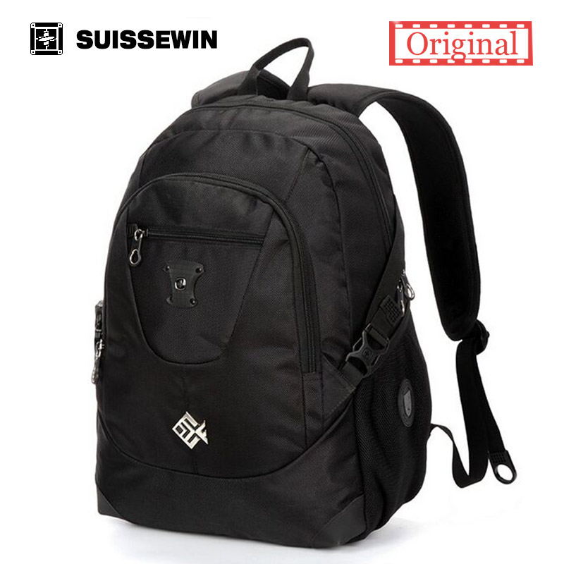 Suissewin Fashion Brand Backpack SN7077 Nylon School Backpack Bag Swiss Army Men Bagpack for Macbook Air