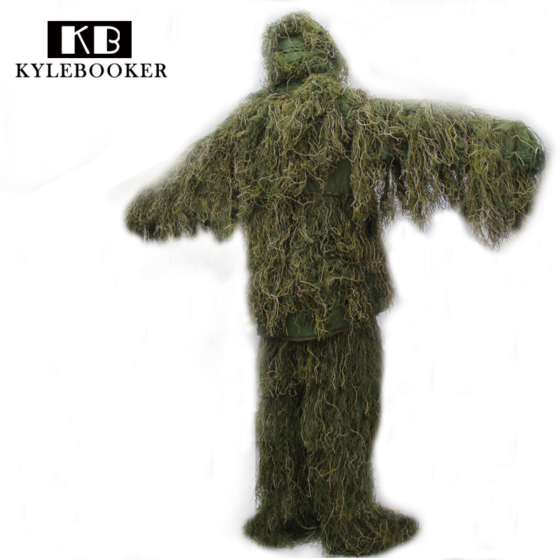 все цены на New Forest Design Camouflage Ghillie Suit grass type hunting clothing,yowie Sniper 3D bionic camouflage suit онлайн