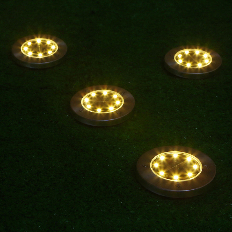8 Leds Ground Light Outdoor Road Stairs Decking Light With