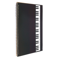 Affordable 50 Pages Piano Manuscript Paper Stave Notation Notebook Spiral Bound