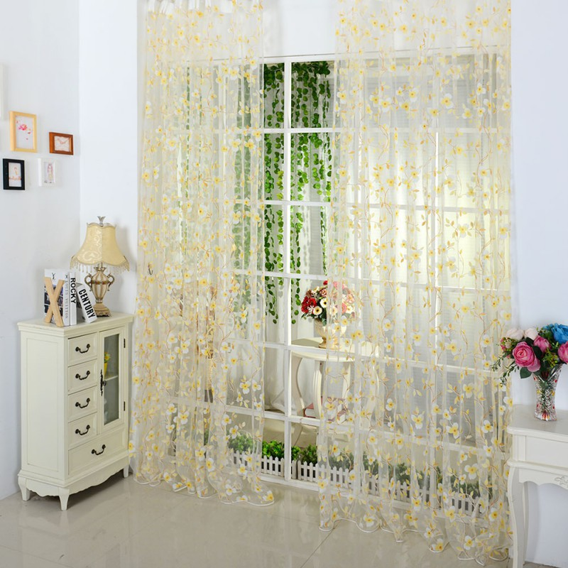 5 Colors Scarf Sheer Voile Door...