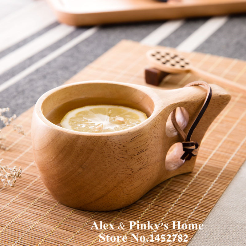 High quality Eco Wood Cup Wooden Cups Coffee Cup Double Wooden Tea Cups Travel Mug