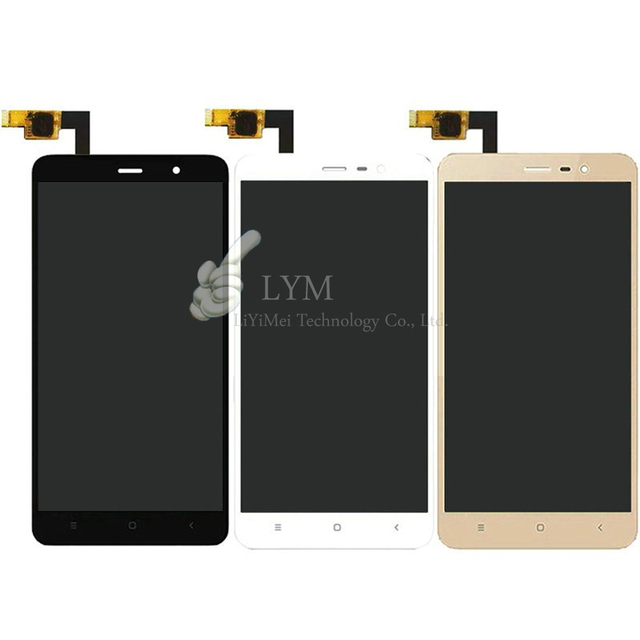 """Черный/Белый/Золото LCD TP для Xiaomi Редми Примечание, редми Примечание Pro 3 5.5 """"Замена ЖК-Дисплей + Сенсорный Экран Digitizer Бесплатные Инструменты"""