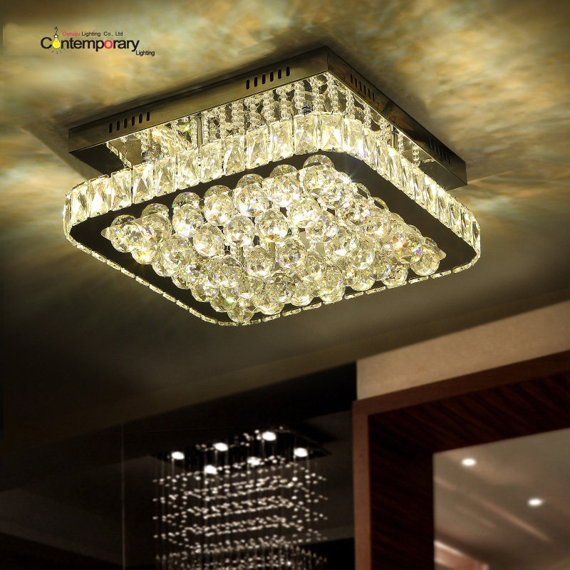 Novelty Modern LED Crystal Ceiling Lights Ceiling Lamp luminaria Children Bedroom Indoor aisle corridor balcony kitchen fixture american country transparent glass ceiling lights street aisle corridor balcony kitchen originality led ceiling lamp