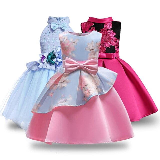 Bordado bebé princesa de seda para el banquete de boda vestidos para ...