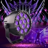 4pcs 36W 12 LEDs Mini Violet Par Sound Active UV Led Stage Parcan Ultraviolet Led Spotlight