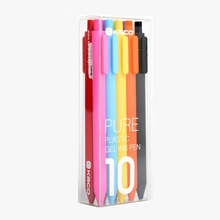 10 pcs Pure Candy color soft touch gel pen set 0.5mm ballpoint Multi ink writing pens Stationery Office school supplies F075 0 5mm candy multicolor ballpoint pen cute 10 colors ink ball point pens marker pen for writing office school supplies stationery