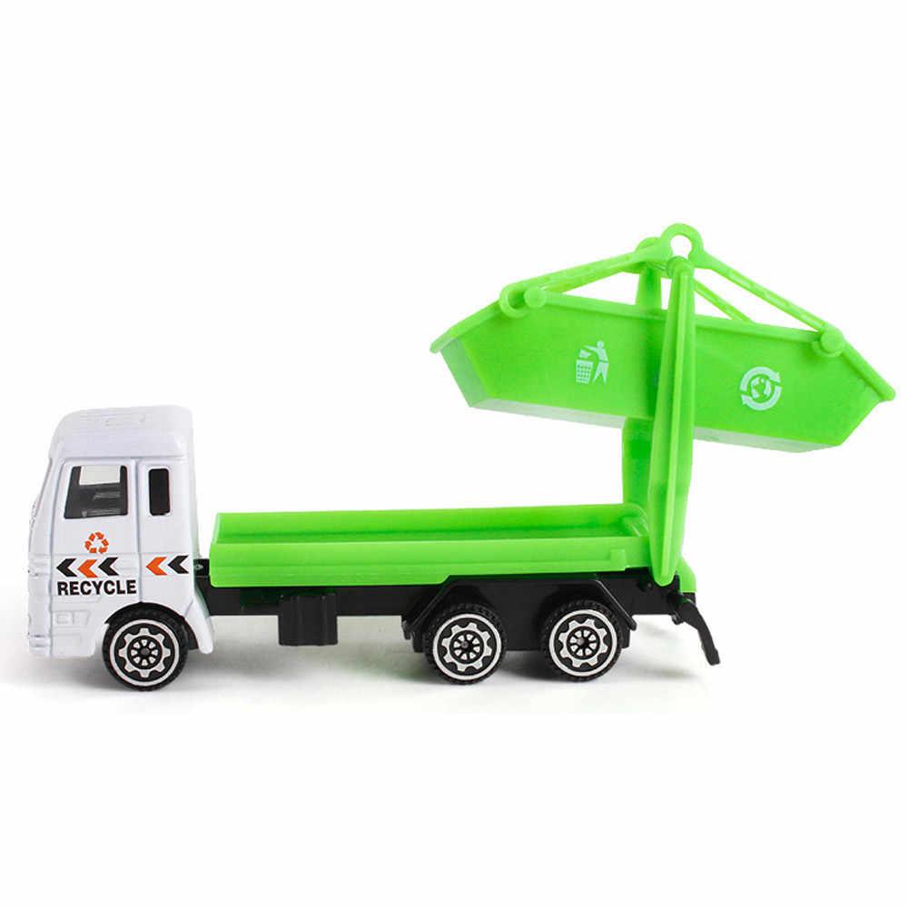 Diecast Mainan Pertambangan Mobil Rekayasa Truk anak Ulang Tahun Hadiah Truk Sampah 20S8119 drop pengiriman