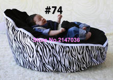 Zebra baby Bean Bag Style Polyester Material beanbag chair fabric for baby sleep, kids toddlers bean bag seat and beds