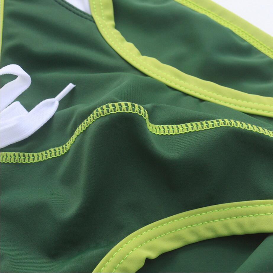 4 color sport swim Shorts Men Swimwear men Swimsuit swim Patchwork swimming suit Trunks Briefs men maillot de bain homme 469