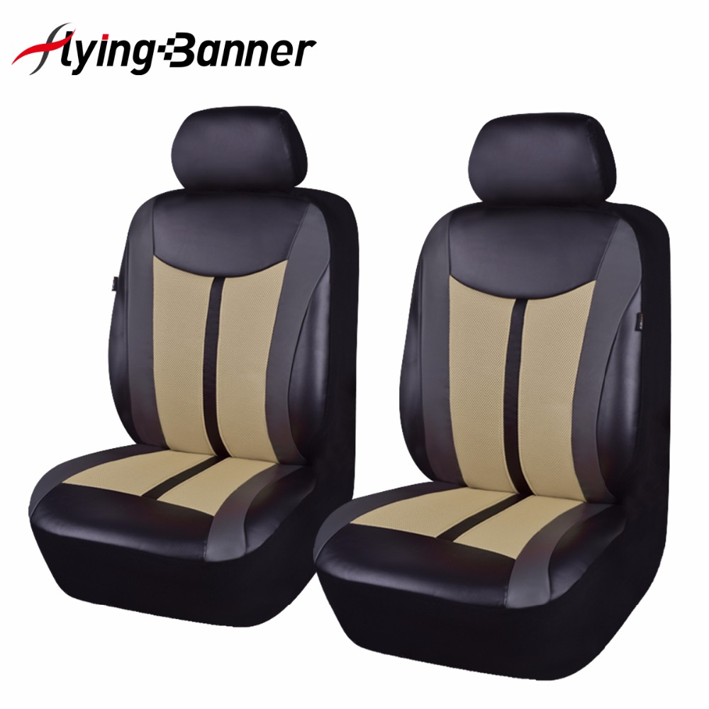 2 Front Pu Leather Automobiles Seat Cover Car Seat Cover Fit Most Vehicles Seats Interior Accessories