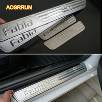 Free Shipping 2008 2009 2010 2011 2012 2013 2014 Skoda Fabia Special Welcome Pedal Steel Door
