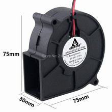 1pcs GDT DC 2Pin 7CM 75X30MM 70MM Brushless Cooling Blower Fan 24 Volt