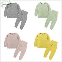 75e3cc7a1721 New kids pajamas sets pure color pajamas children s pajamas home wear candy  color clothing Baby s Cotton