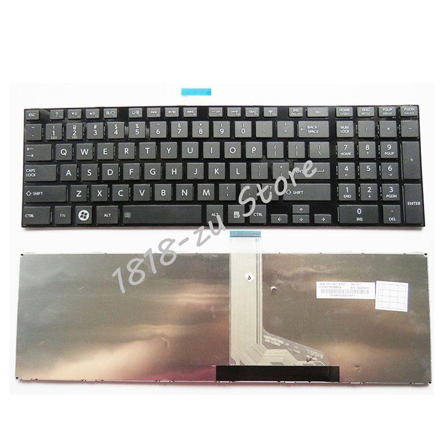 YALUZU NEW Laptop Keyboard For TOSHIBA For SATELLITE C850 C850D C855 C855D L850 L850D L855 L855D L870 L870D US Notebook Keyboard