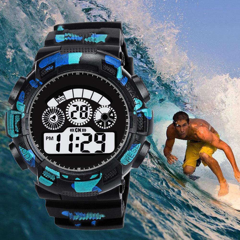 Fashion Leisure Band Men Watch Digital Date LED Llluminate Analog Alarm Wrist Smart Movement Waterproof Sports Watch Men Reloj цена и фото
