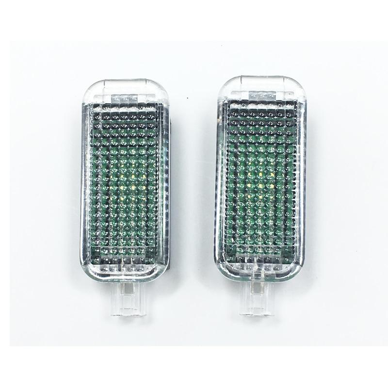 2Pcs OEM LED  Footwell Lights For VW Golf Jetta MK5 MK6 Passat B6  Seat Leon Octavia  A5 A6 A7 A8  3AD 947 409 3AD947409 oem oil level sensor for vw jetta golf passat a6 tt quattro 03c 907 660m 03c907660m 03c 907 660 m